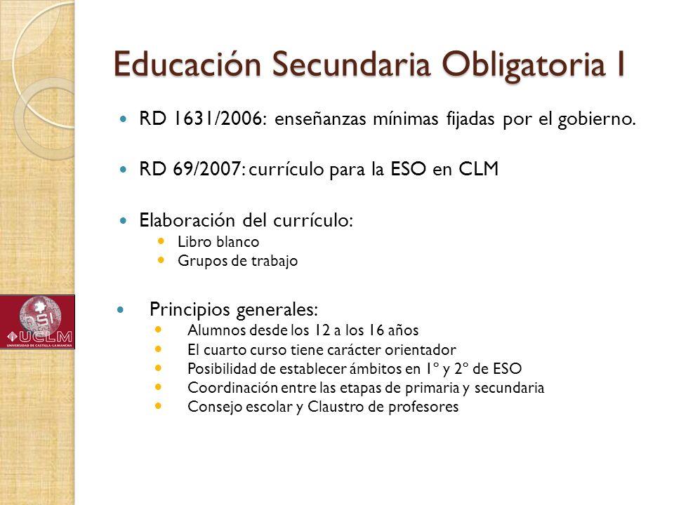 Educación Secundaria Obligatoria I