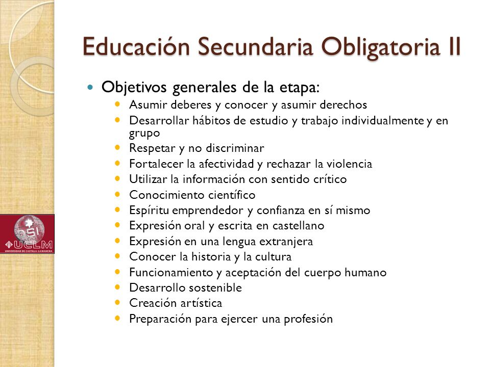 Educación Secundaria Obligatoria II