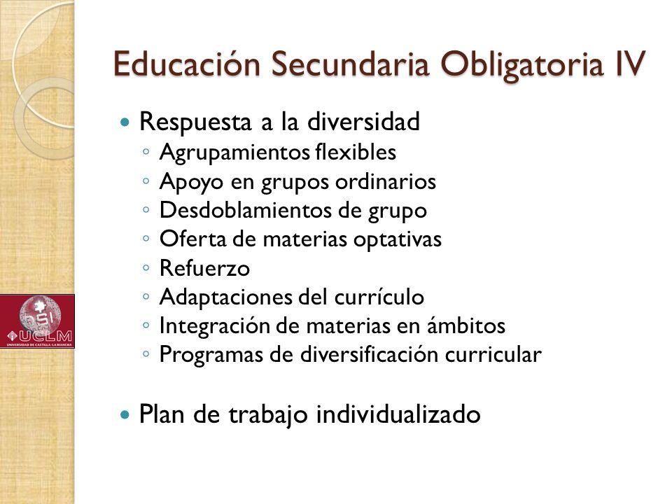 Educación Secundaria Obligatoria IV