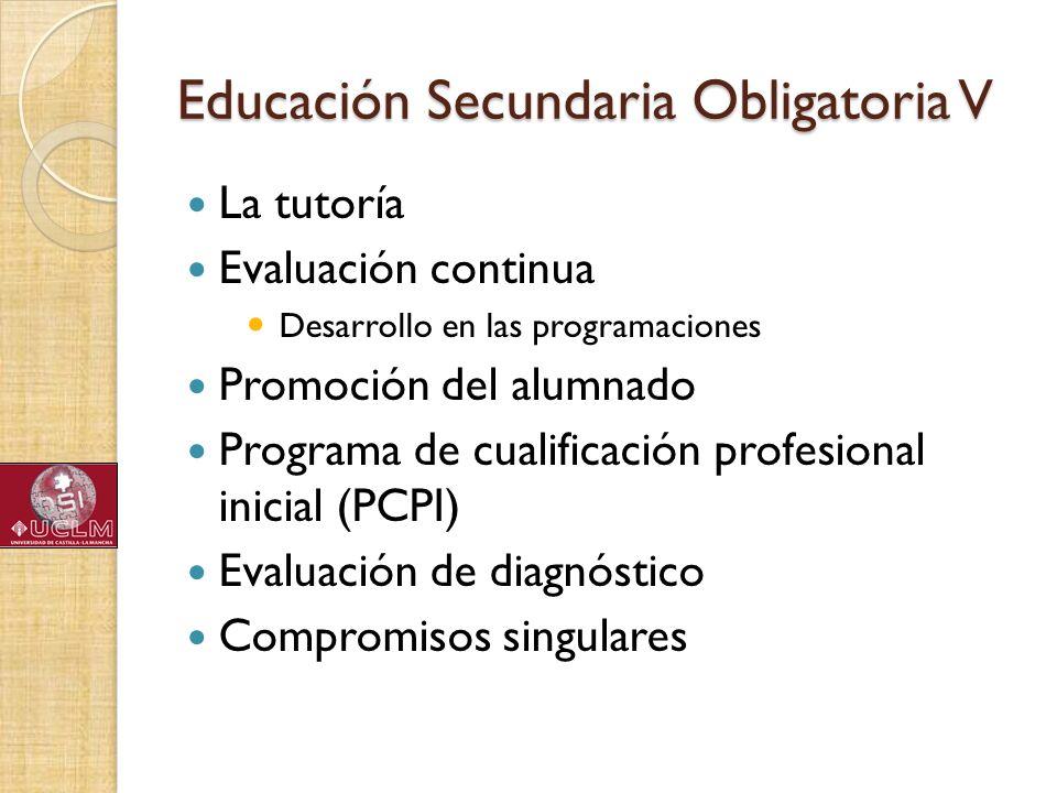 Educación Secundaria Obligatoria V