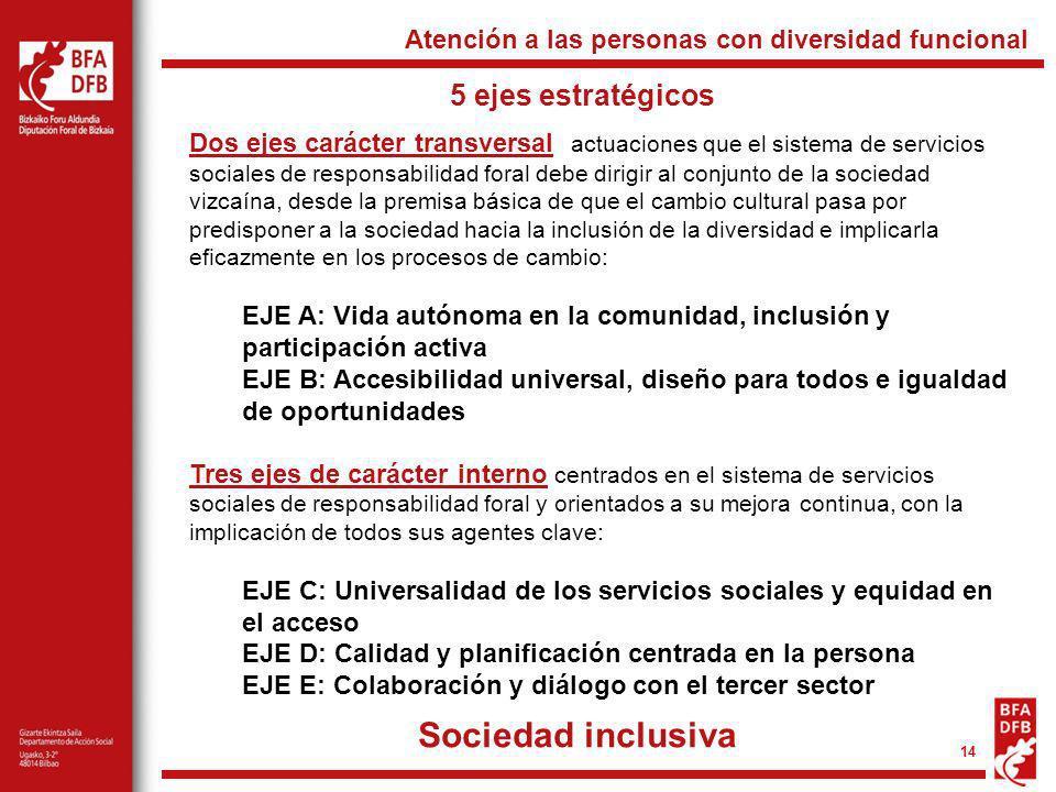Sociedad inclusiva 5 ejes estratégicos