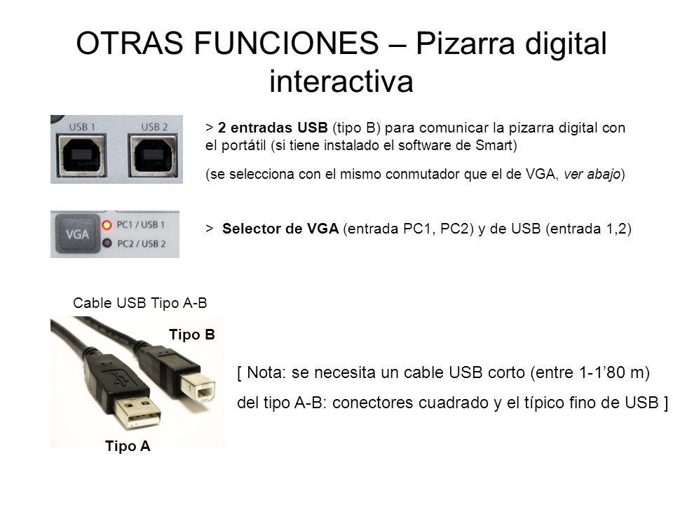 OTRAS FUNCIONES – Pizarra digital interactiva