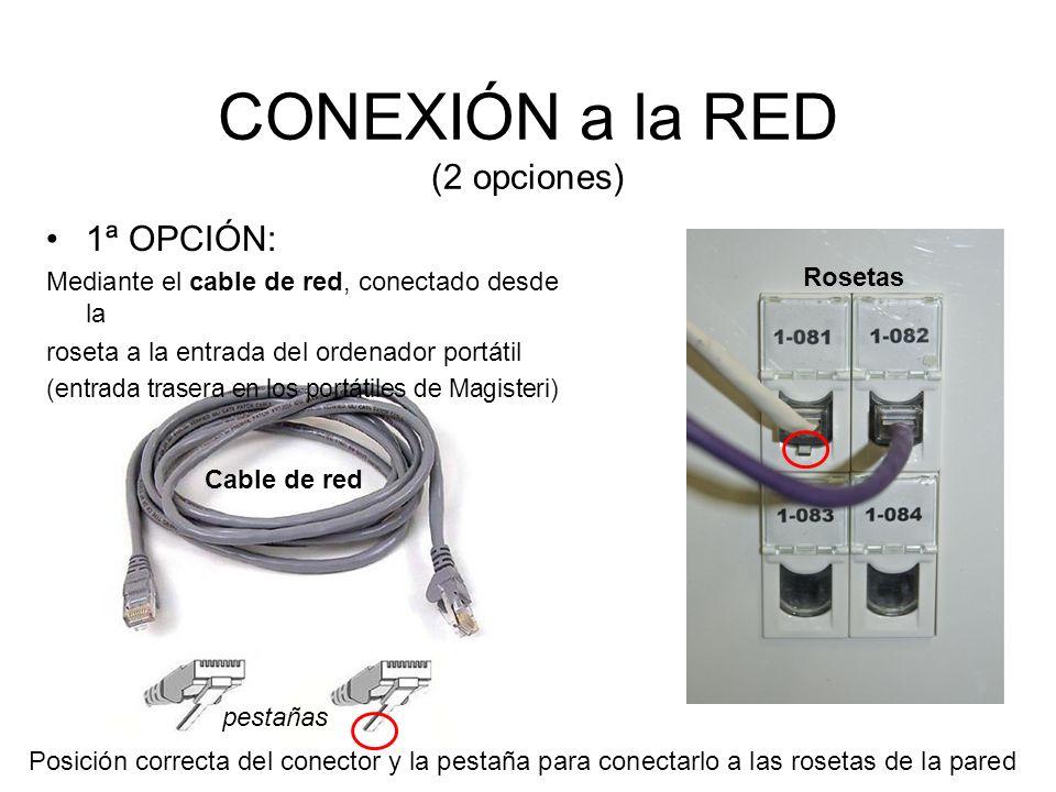 CONEXIÓN a la RED (2 opciones)