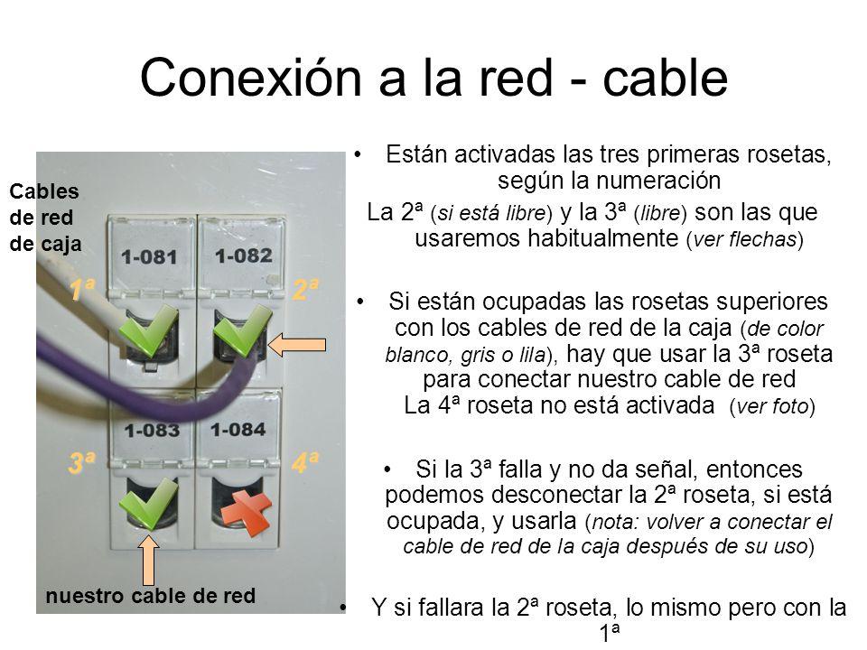 Conexión a la red - cable