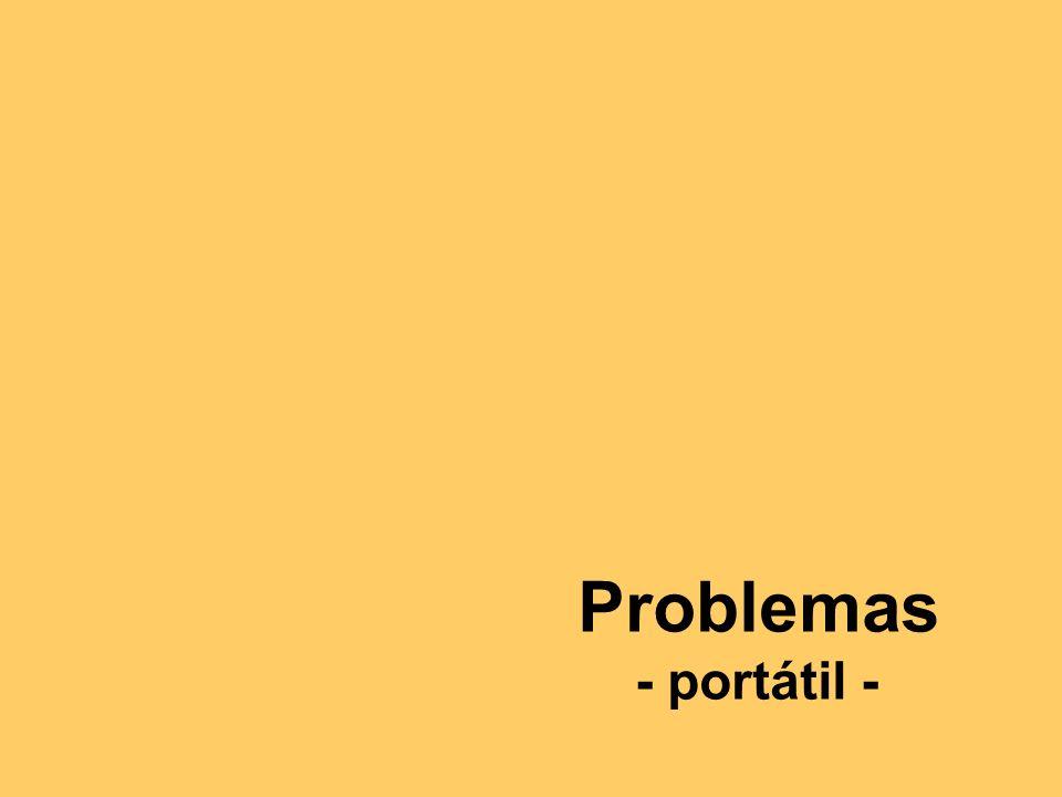 Problemas - portátil -