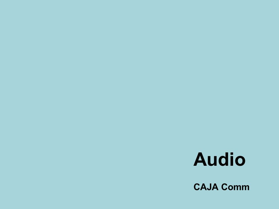 Audio CAJA Comm