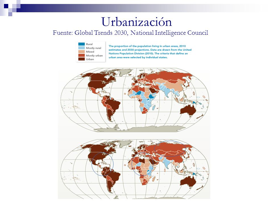 Fuente: Global Trends 2030, National Intelligence Council