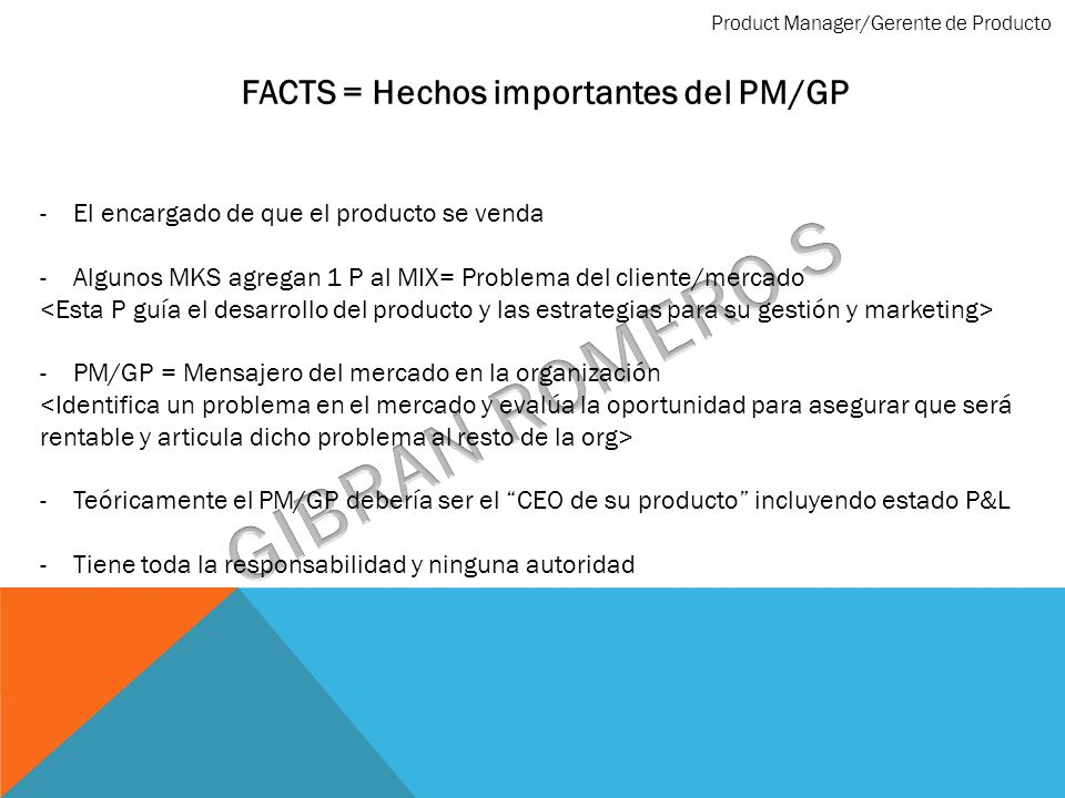 FACTS = Hechos importantes del PM/GP
