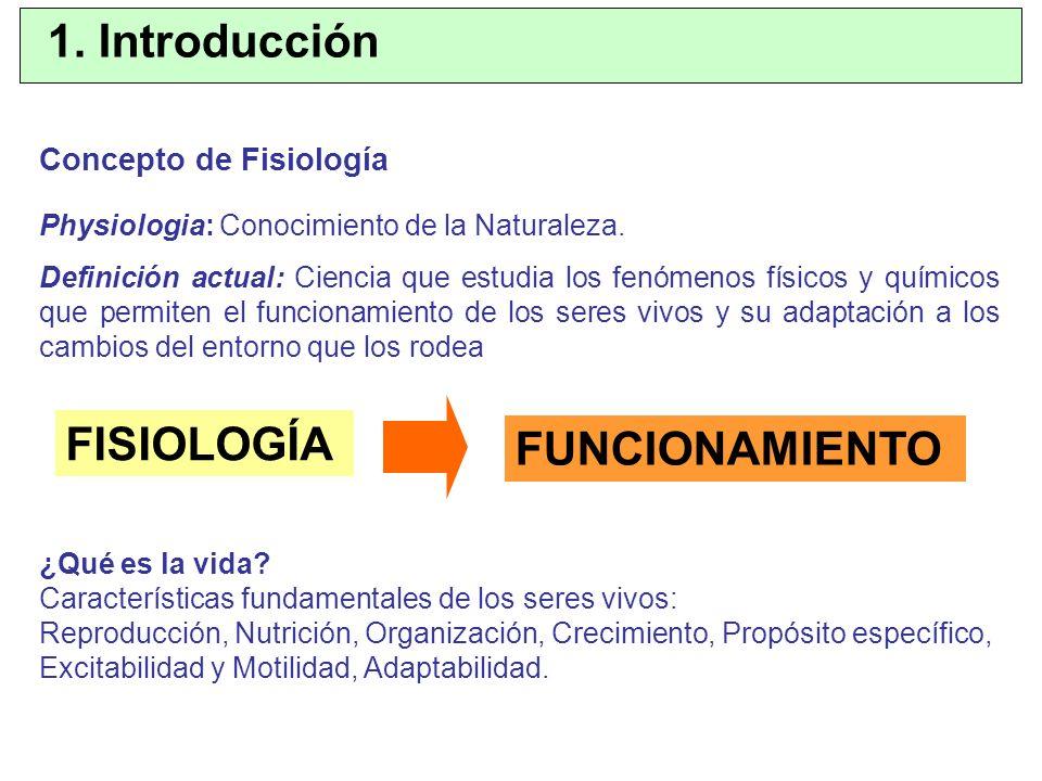 Concepto de Fisiología