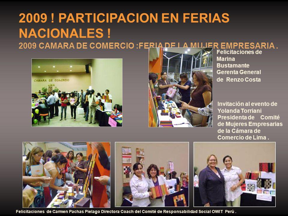 2009 ! PARTICIPACION EN FERIAS NACIONALES !