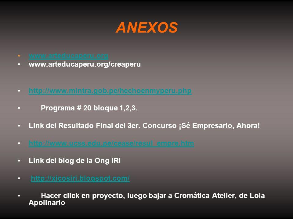 ANEXOS www.arteducaperu.org www.arteducaperu.org/creaperu