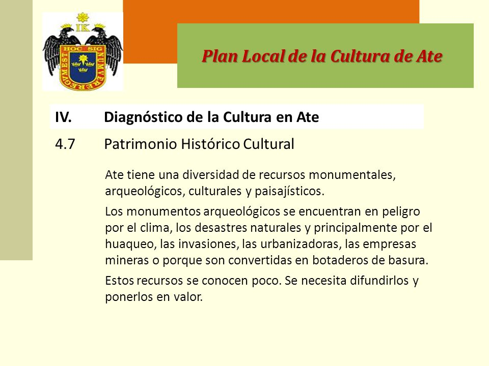 Plan Local de la Cultura de Ate