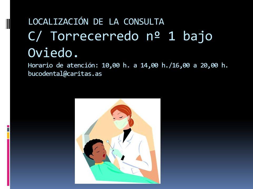 LOCALIZACIÓN DE LA CONSULTA C/ Torrecerredo nº 1 bajo Oviedo