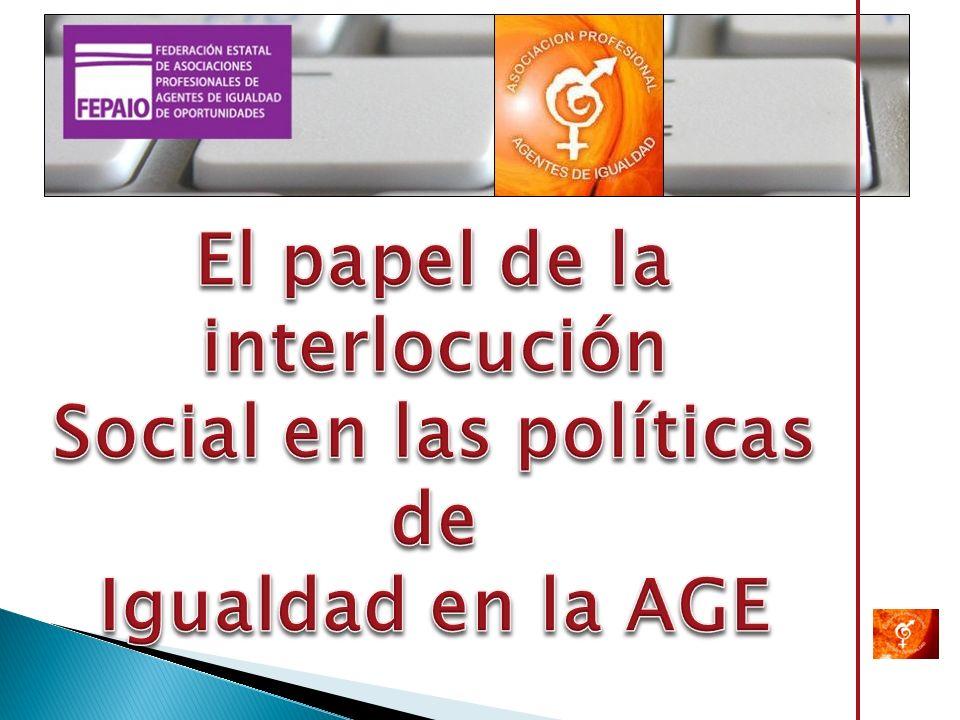 El papel de la interlocución Social en las políticas de