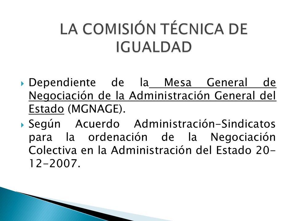 LA COMISIÓN TÉCNICA DE IGUALDAD
