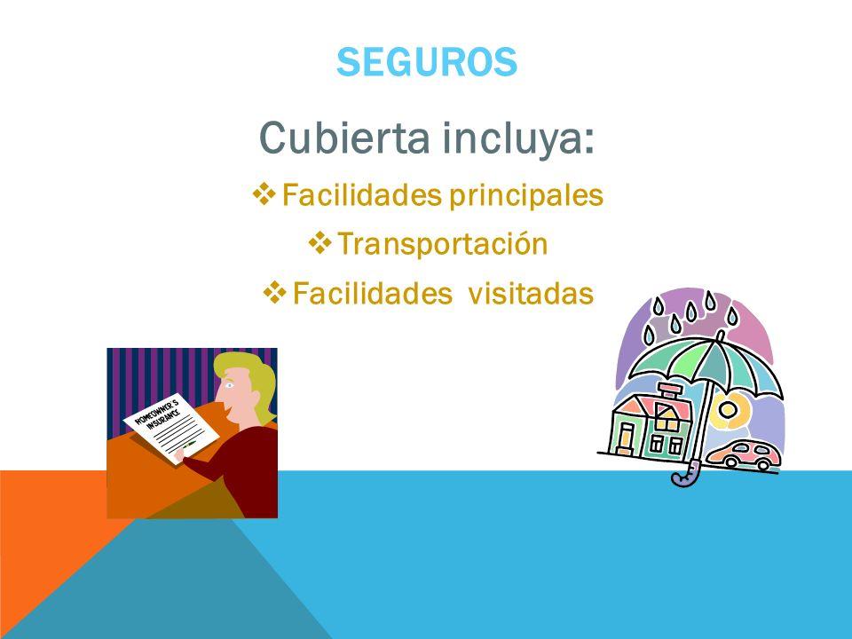 Facilidades principales Facilidades visitadas