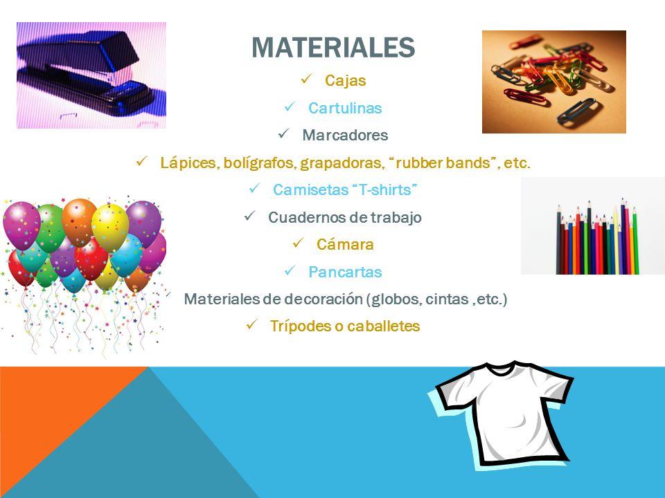 MATERIALES Cajas Cartulinas Marcadores