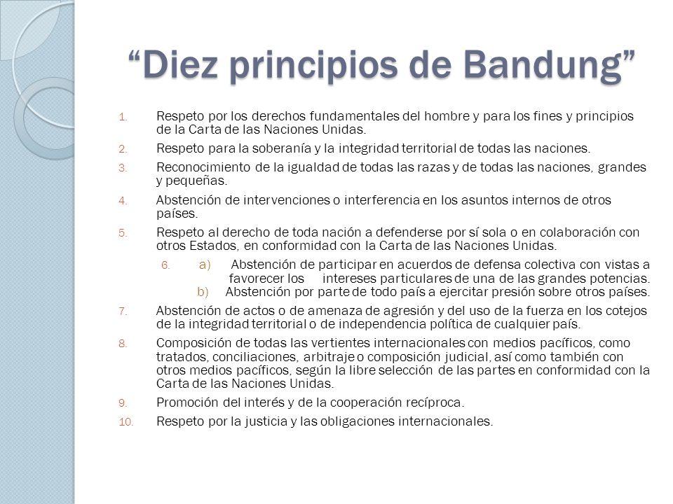 Diez principios de Bandung