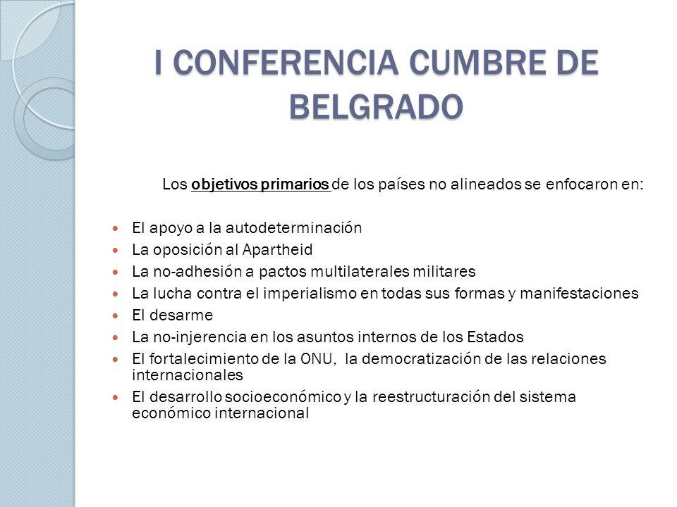 I CONFERENCIA CUMBRE DE BELGRADO