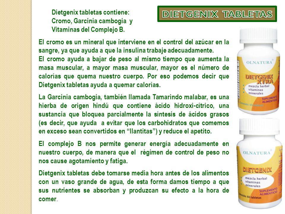 DIETGENIX TABLETAS Dietgenix tabletas contiene:
