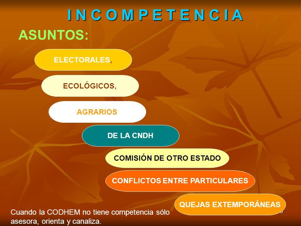 COMISIÓN DE OTRO ESTADO CONFLICTOS ENTRE PARTICULARES