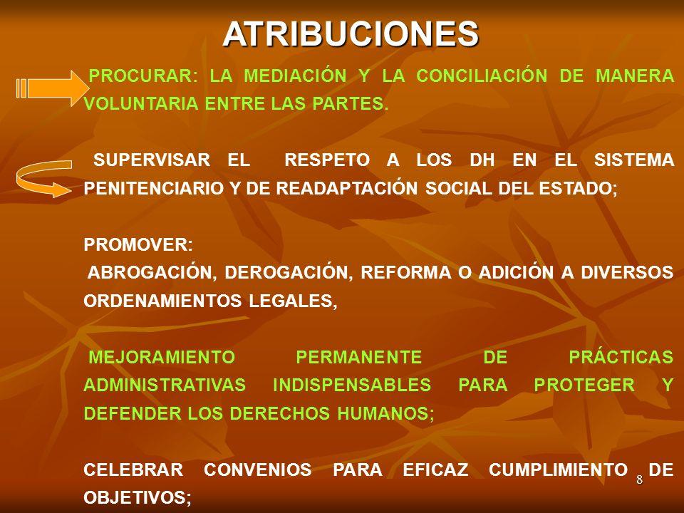 ATRIBUCIONES PROCURAR: LA MEDIACIÓN Y LA CONCILIACIÓN DE MANERA VOLUNTARIA ENTRE LAS PARTES.