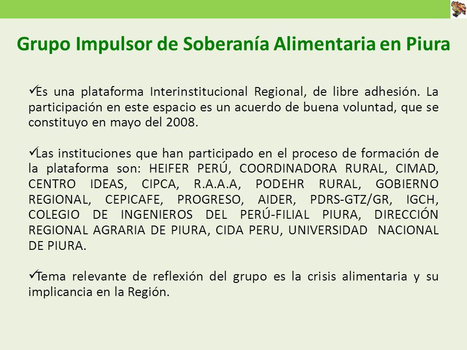 Grupo Impulsor de Soberanía Alimentaria en Piura
