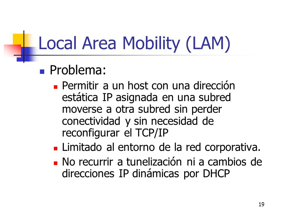 Local Area Mobility (LAM)