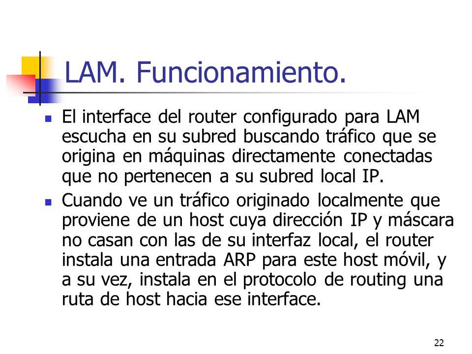 LAM. Funcionamiento.