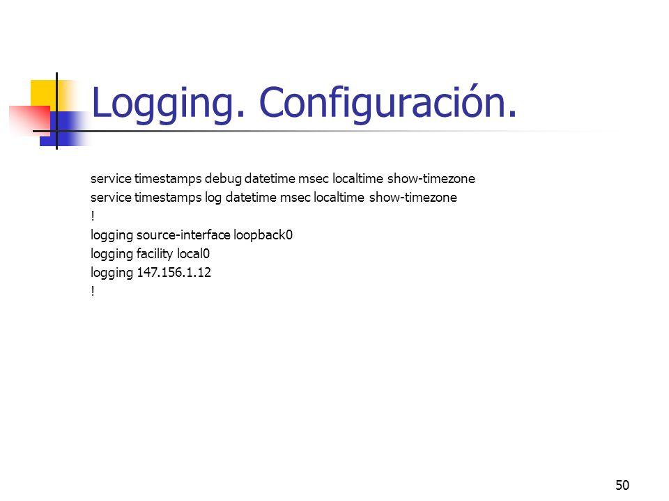 Logging. Configuración.