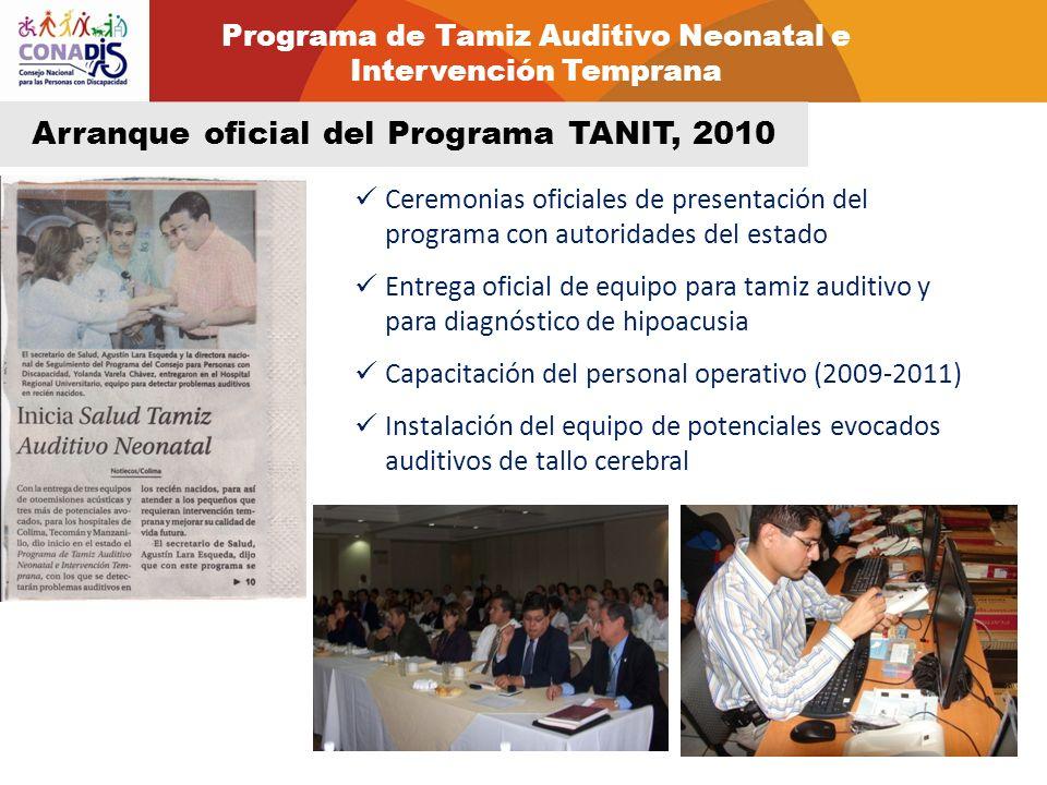 Arranque oficial del Programa TANIT, 2010