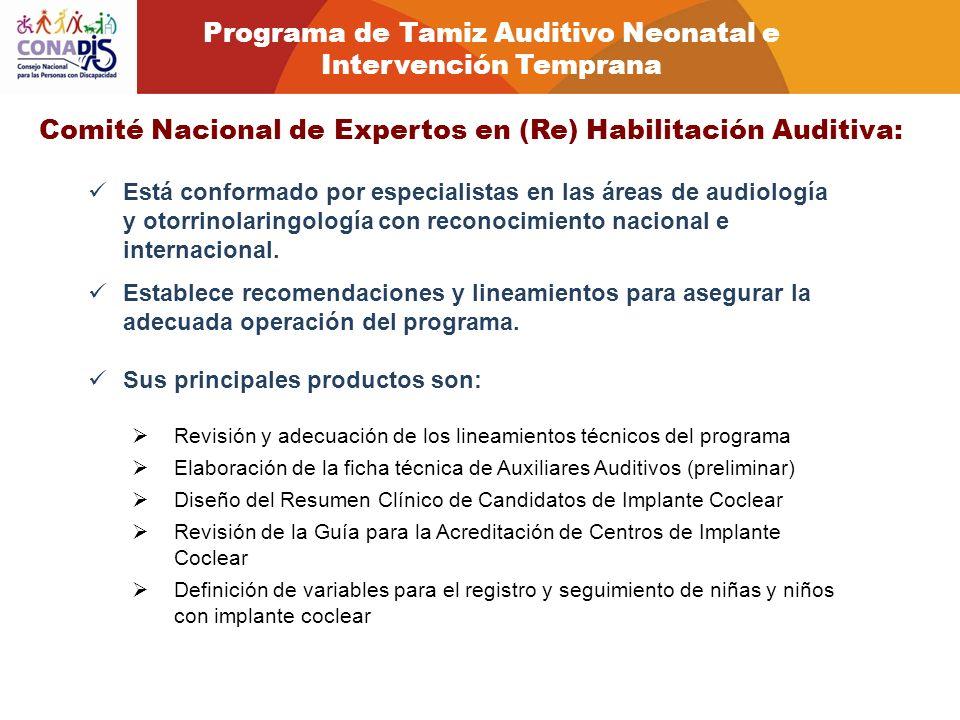 Programa de Tamiz Auditivo Neonatal e Intervención Temprana