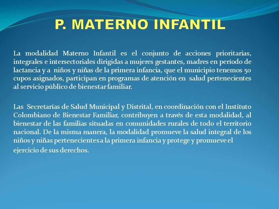 P. MATERNO INFANTIL