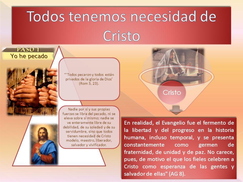 Todos tenemos necesidad de Cristo