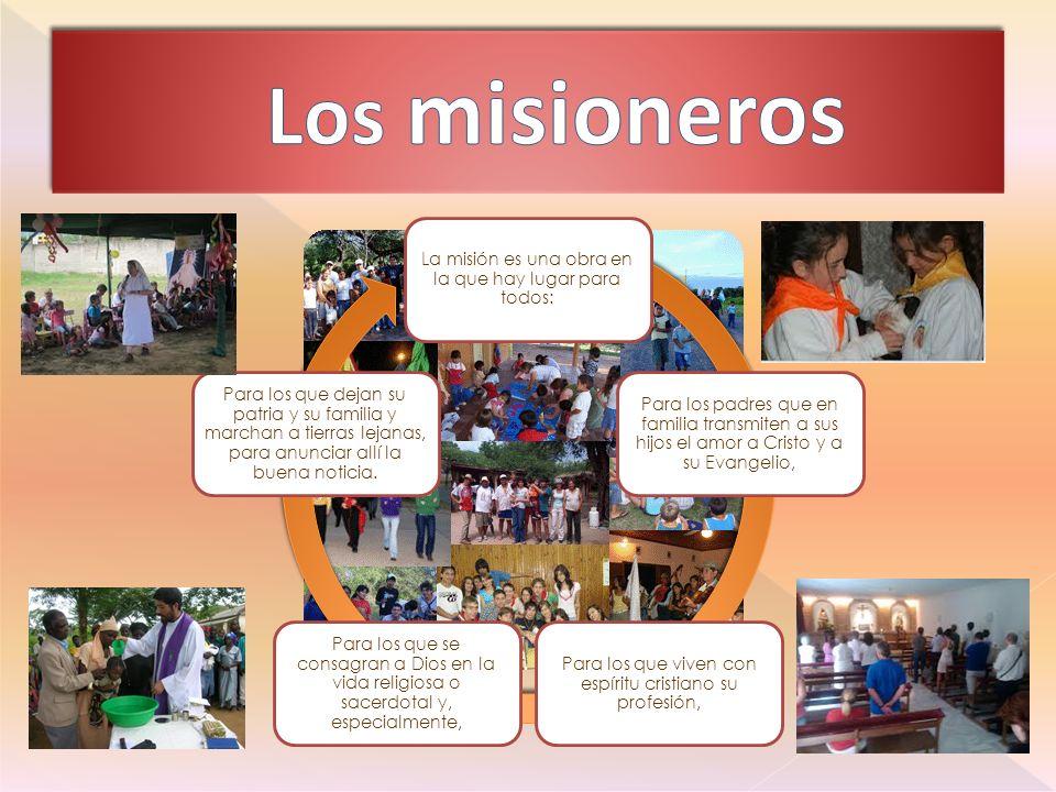 Los misioneros La misión es una obra en la que hay lugar para todos: