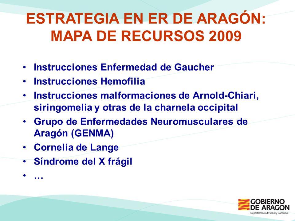 ESTRATEGIA EN ER DE ARAGÓN: MAPA DE RECURSOS 2009