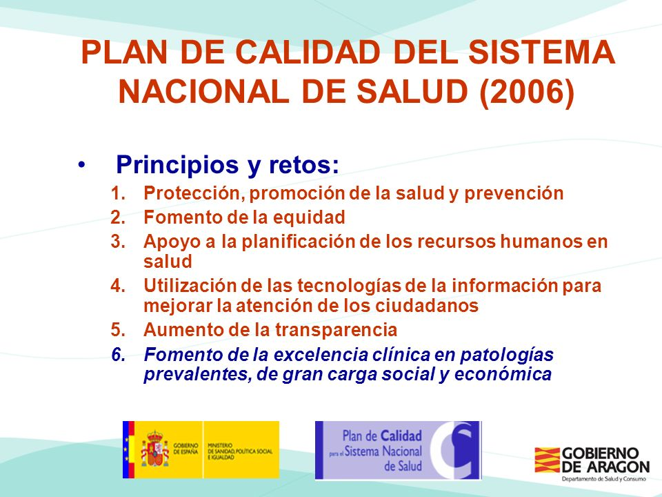 PLAN DE CALIDAD DEL SISTEMA NACIONAL DE SALUD (2006)