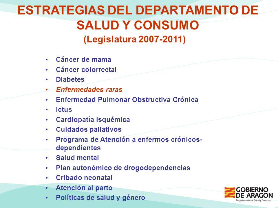 ESTRATEGIAS DEL DEPARTAMENTO DE SALUD Y CONSUMO