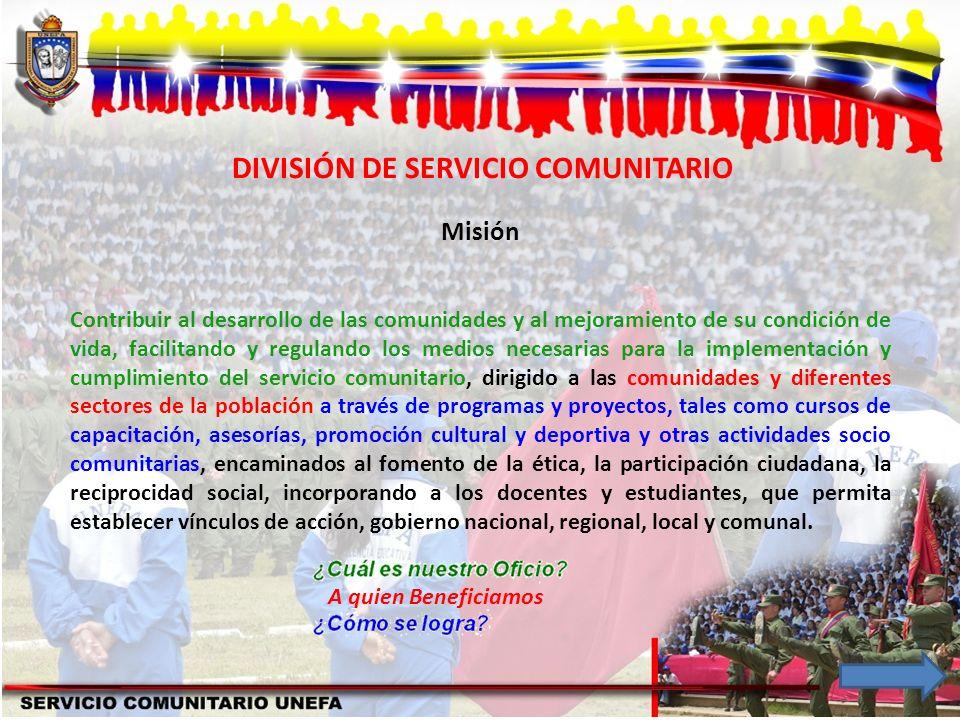 DIVISIÓN DE SERVICIO COMUNITARIO