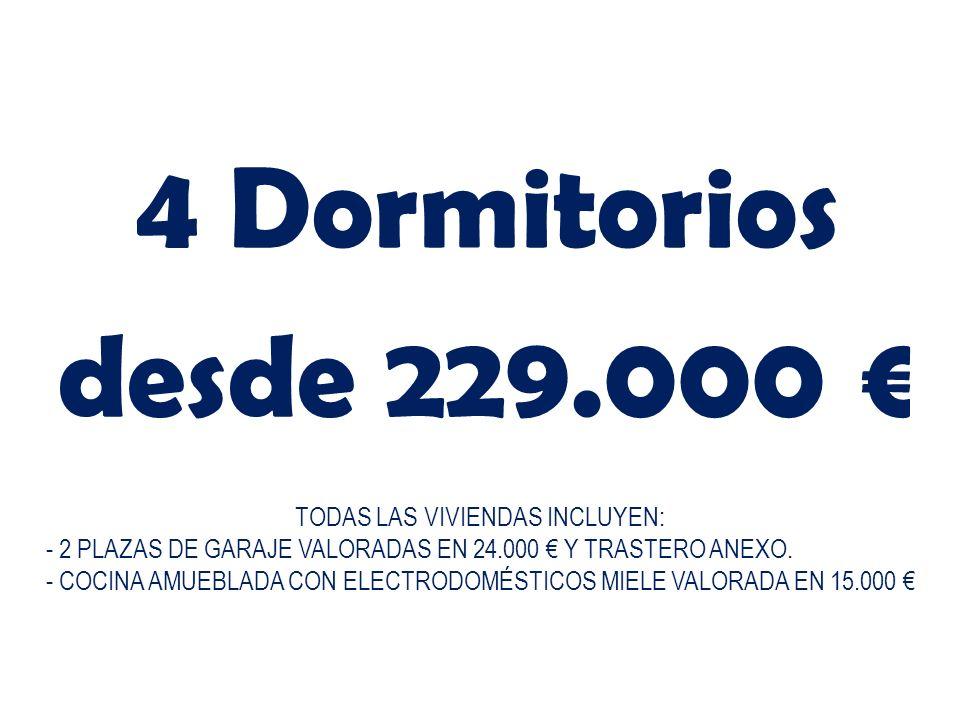 TODAS LAS VIVIENDAS INCLUYEN: