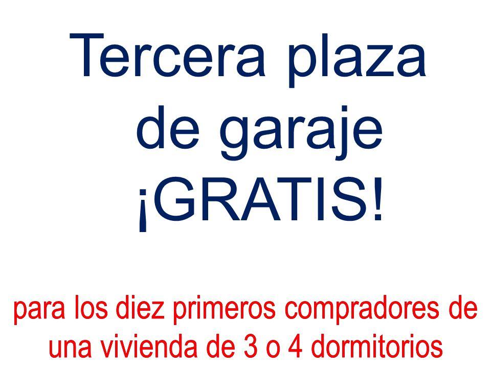Tercera plaza de garaje ¡GRATIS!
