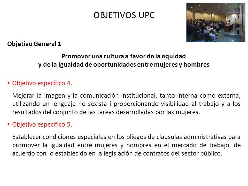 OBJETIVOS UPC Objetivo General 1