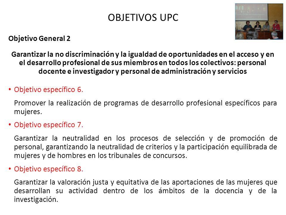 OBJETIVOS UPC Objetivo General 2