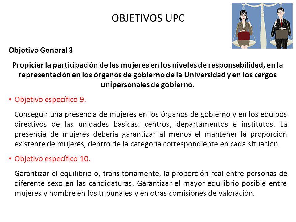 OBJETIVOS UPC Objetivo General 3