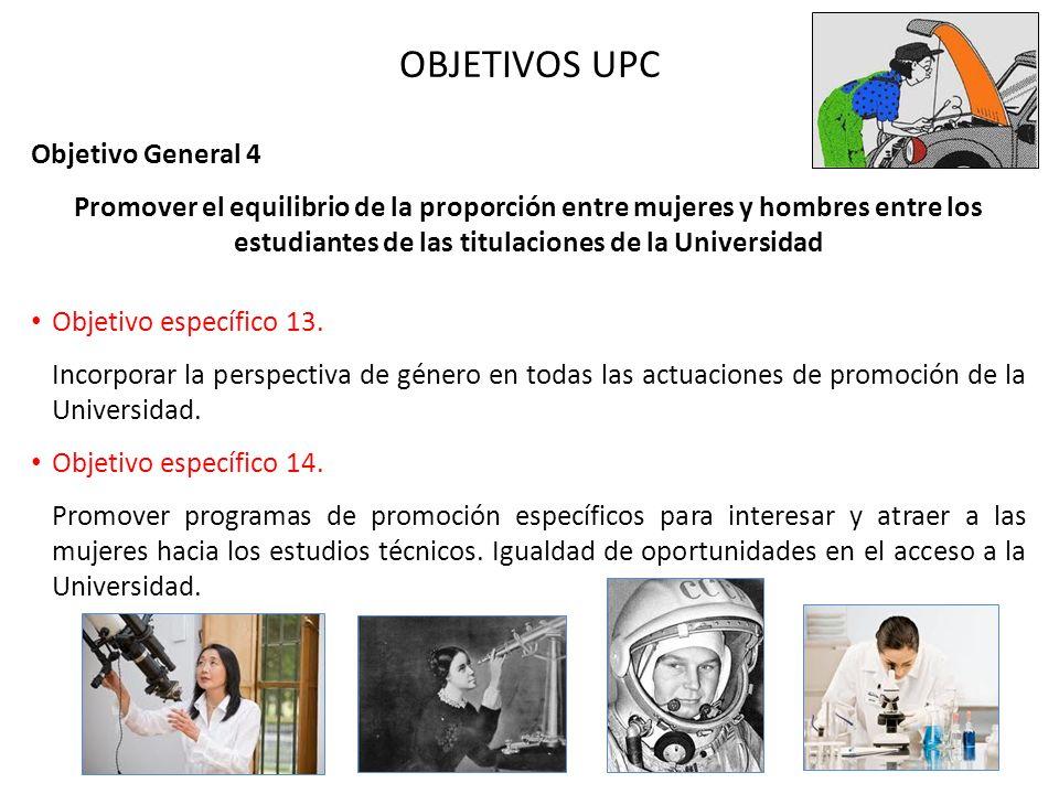 OBJETIVOS UPC Objetivo General 4