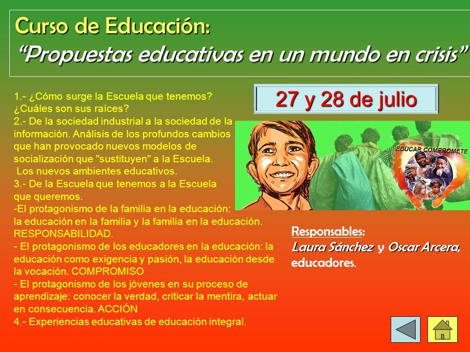 Propuestas educativas en un mundo en crisis
