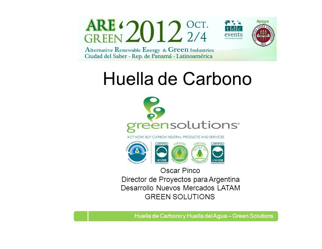 Huella de Carbono Oscar Pinco Director de Proyectos para Argentina
