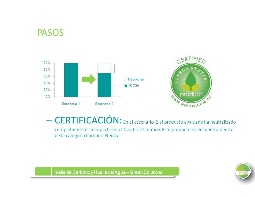 PASOS – CERTIFICACIÓN: