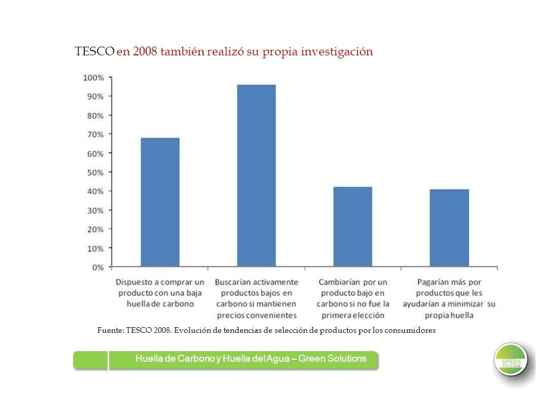 TESCO en 2008 también realizó su propia investigación