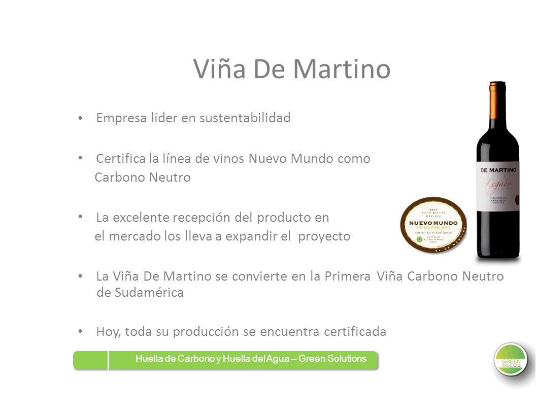 Viña De Martino Certifica la línea de vinos Nuevo Mundo como